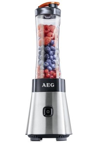 Mini Standmixer - AEG PerfectMix SB Mini Mixer mit Power-Motor, Edelstahlmesser, bruchfeste BPA-freie Tritan-Trinkflasche, Standmixer und Smoothie Mixer